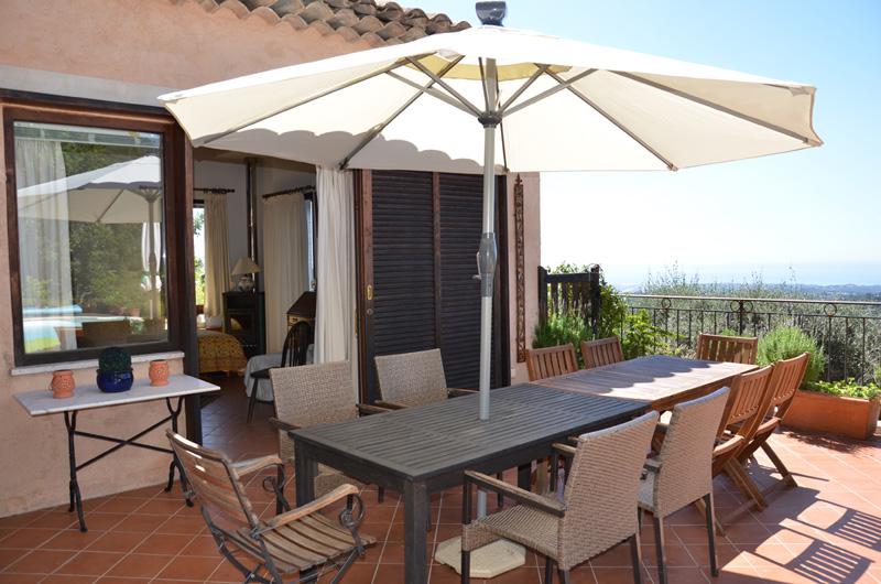 terrasse et chambre Jasmin